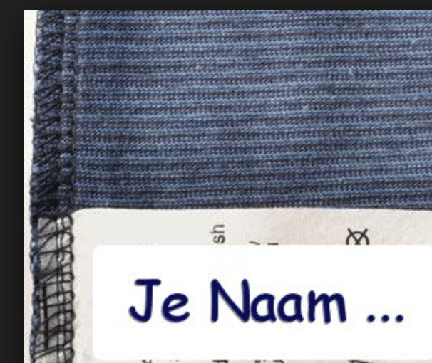 Label etiket in kleding - irritant